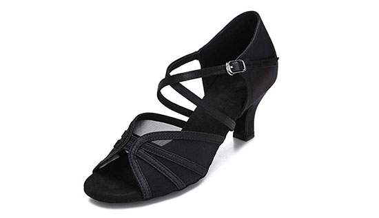 CLEECLI Women's Latin Salsa Practice Dancing Shoes