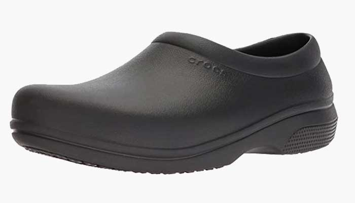 Crocs Men's and Women's On The Clock Work Slip Resistant Work Shoe